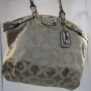 Coach Madison Op Exotic Python Embossed Satchel